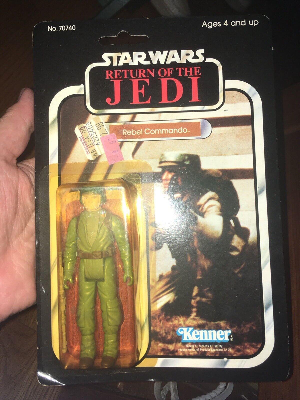 Star Wars ROTJ Rebel Commando Mint Action Figure Bubble Sealed Vintage 1983