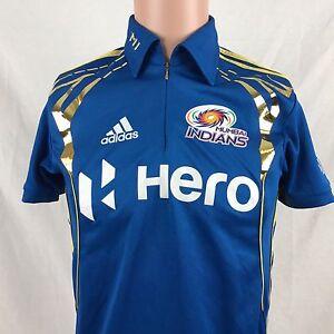 Image is loading Adidas-Mumbai-Indians-Cricket-Jersey-XS-Blue-IPL-