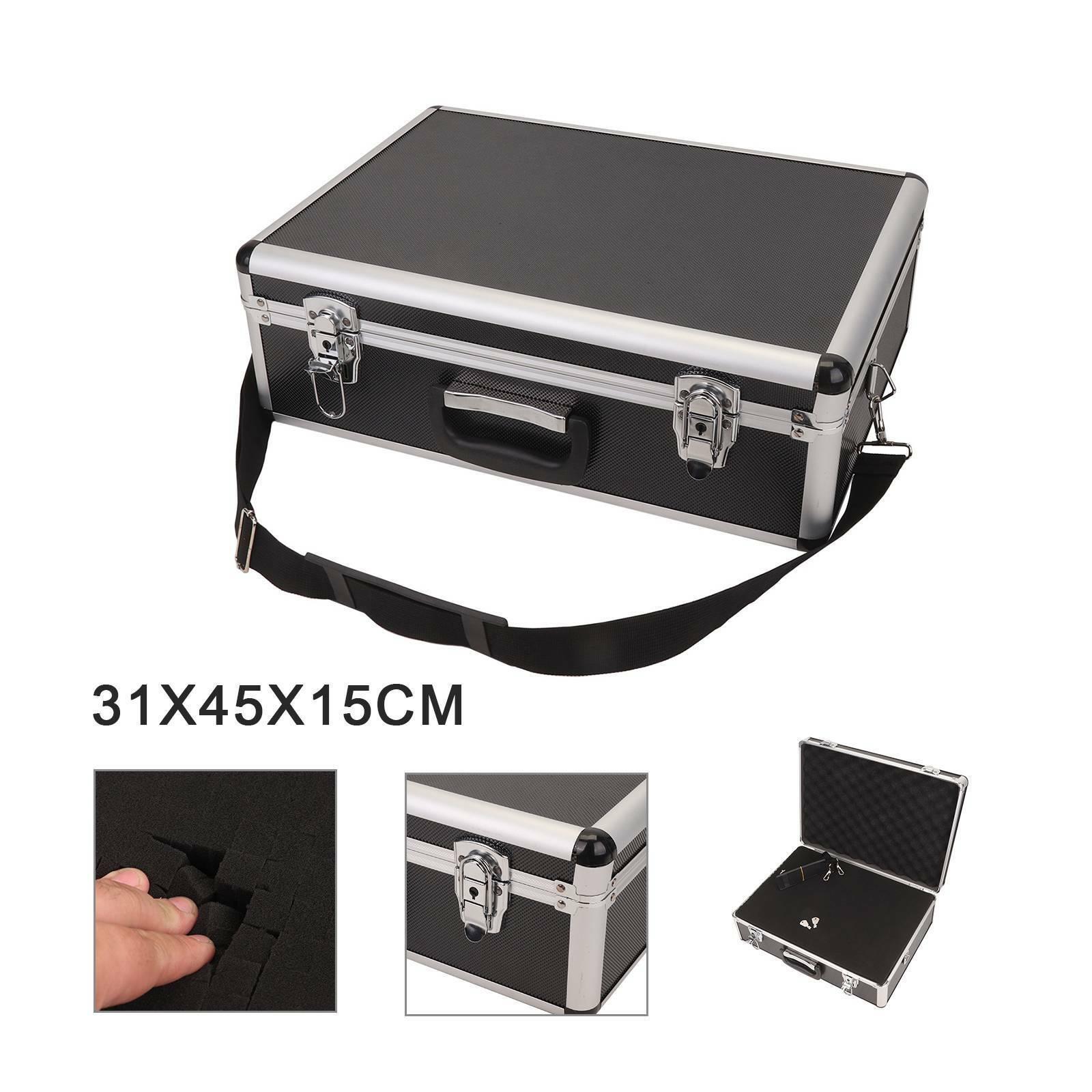 Large Aluminium Flight Hard Case Tool Box Carry Storage Camera Box (31X45X15cm)