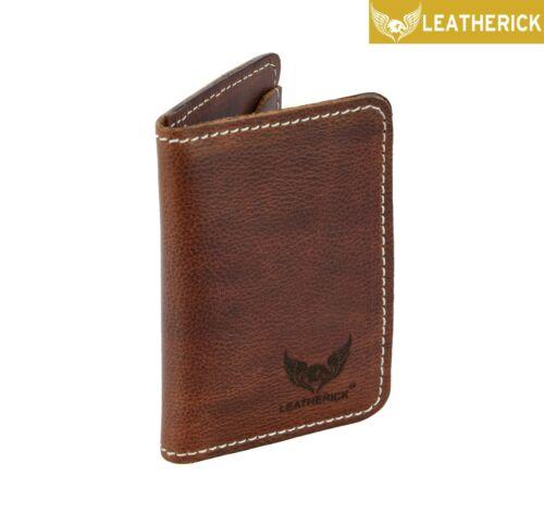 Nubuck Real Leather Unisex Pocket Credit Card Holder Wallet UK