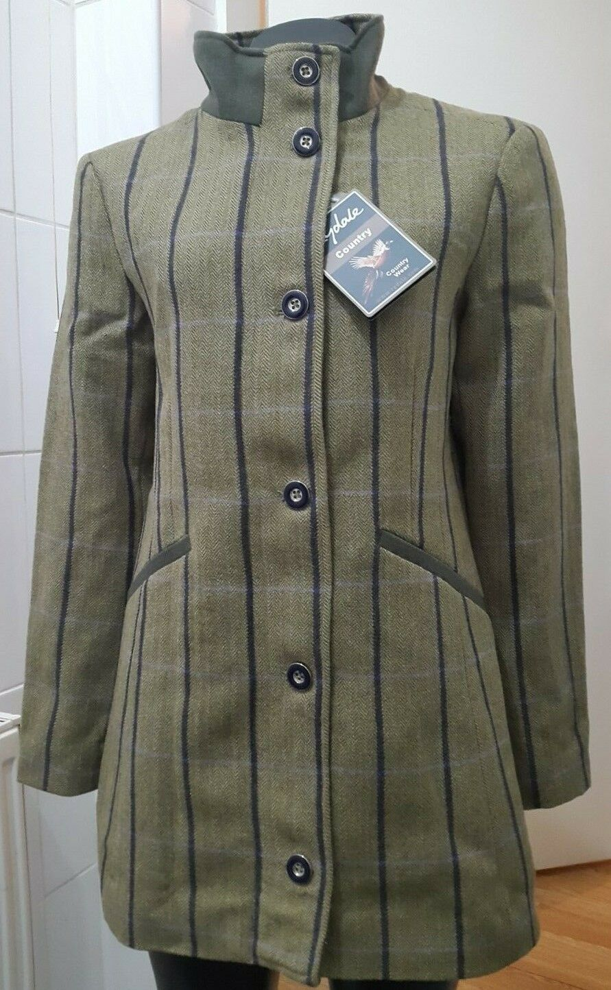 New Ryedale Beverley Tweed Country Coat Size 12