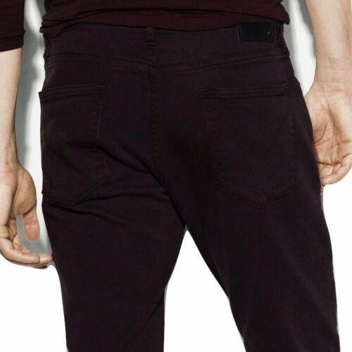 John Varvatos Star USA Men/'s Knit Bowery Slim Straight Jeans BYTR Merlot