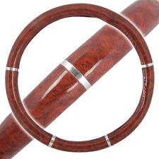 Dark Wood Grain Steering Wheel Cover for Van Car SUV Premium Wood Syn Leather
