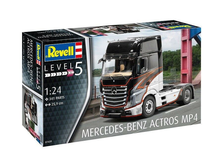 Revell 07439-1 24 Mercedes-Benz Actros MP4 - Nuevo