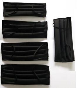 Lot-de-5-masques-en-tissus-gris-tres-fonce-limite-noir