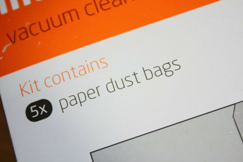 Pack of 5 Genuine Vax Paper Dust Bags For VO-4000 Part No 1-1-125572-00