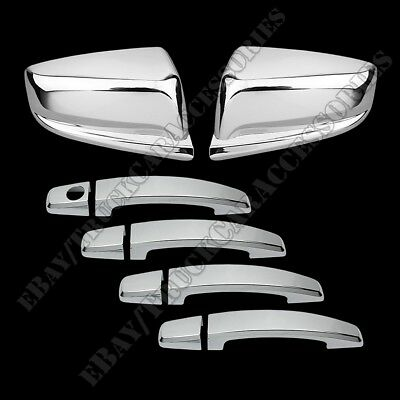 FOR 2013 2014 2015 Chevy Malibu Chrome TOP Mirror 4 DOOR HANDLE Covers
