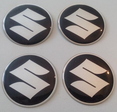 4 sticker suzuki 50mm negro