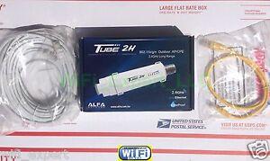 ALFA Networks PoE TUBE 2H Outdoor Super Long Range Booster GET FREE INTERNET