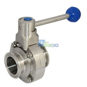 "1/"" 1 inch 25mm OD SS SUS316 Sanitary Tri Clamp Ferrule Full Port Ball Valve"