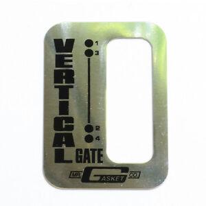 Mr Gasket Vertical Gate 4 Speed Shifter Boot Upper Top