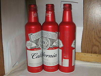"""Budweiser """"California"""" 16 oz aluminum bottle beer can with ..."""