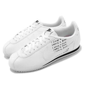 the best attitude 53b03 68a47 Details about Nike Classic Cortez X Nathan Bell White Black Mens Retro  Running Shoe BV8165-100