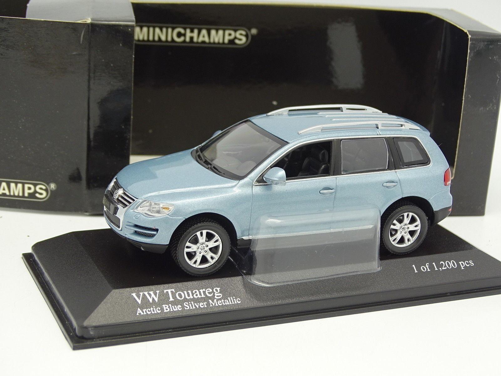 Minichamps 1 43- VW Touareg 2002 Arctic Azul