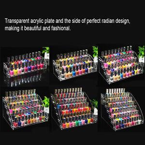 6 types beauty makeup nail polish acrylic storage organizer rack image is loading 6 types beauty makeup nail polish acrylic storage solutioingenieria Choice Image