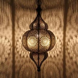 Orientalische lampen marokkanische laterne h ngeleuchte h ngelaterne moulouk ebay for Orientalische lampe silber