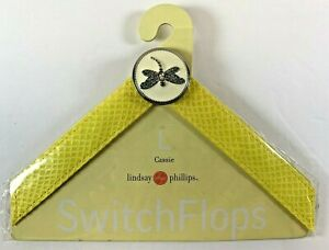 Lindsay-Phillips-SwitchFlops-Dragonfly-Interchangeable-Flip-Flop-Straps-Size-L