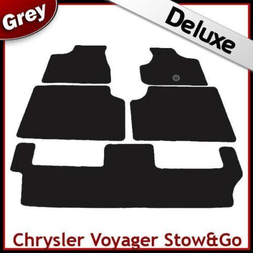 Chrysler Voyager Mk4 2005-2007 Stow /'n Go SUR MESURE de luxe 1300 G Tapis de sol gris