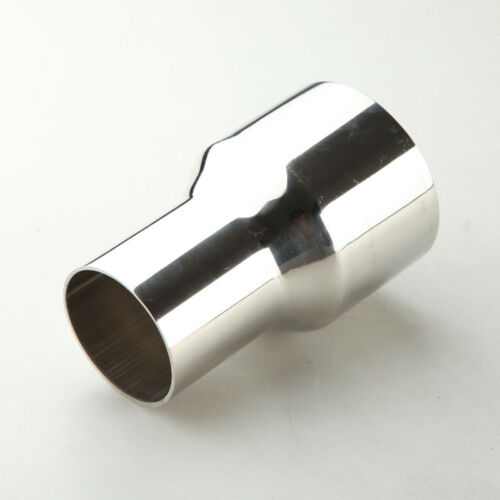 """3/"""" ID 76mm To 2.5/"""" OD 63mm Exhaust Reducer Connector Pipe Stainless Steel"""