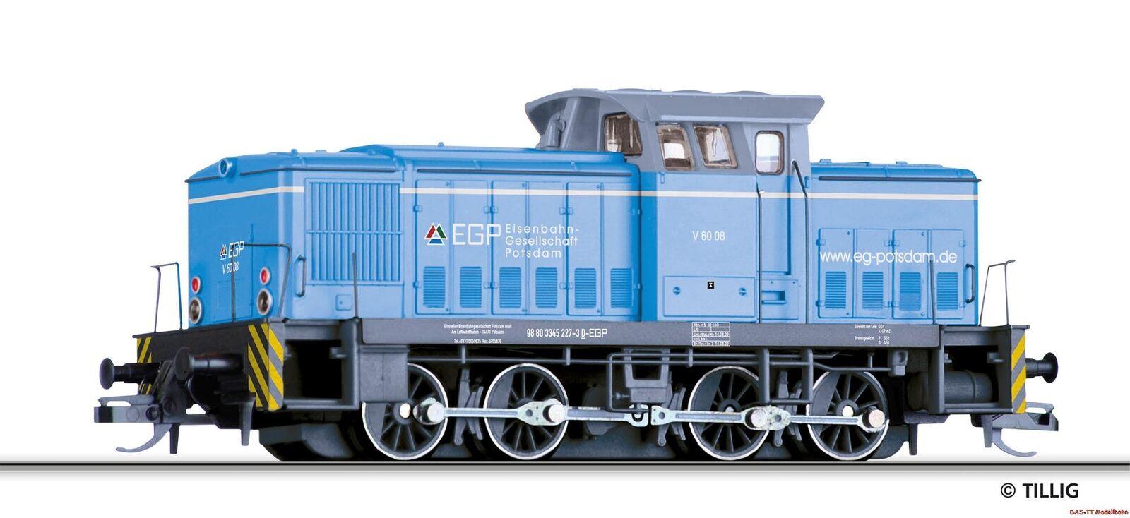 despacho de tienda TT diesellok V 60 08 egp egp egp EP. vi Tillig 96160 nuevo     precioso