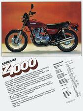 1977 KAWASAKI KZ1000 Z1000 VINTAGE MOTORCYCLE POSTER PRINT 36x27