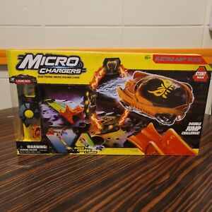 Micro Chargers Electronic Micro Racing Cars Electro Jump Track Stunt Moose Toys