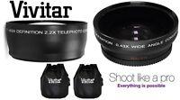 2-pc Pro Hi-def Telephoto & Wide Angle Lens Set For Canon Powershot Sx520 Hs