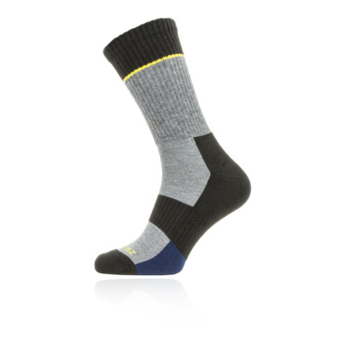 SealSkinz Unisex Solo Quickdry Mid Length Socks Grey Outdoors