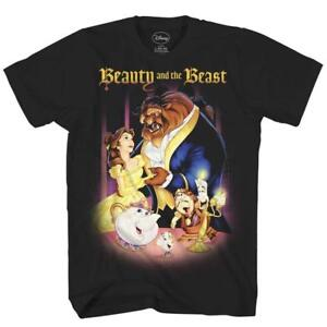 Beauty-and-the-Beast-Belle-Disney-World-Lumiere-Adult-Men-039-s-Graphic-T-Shirt-Tee