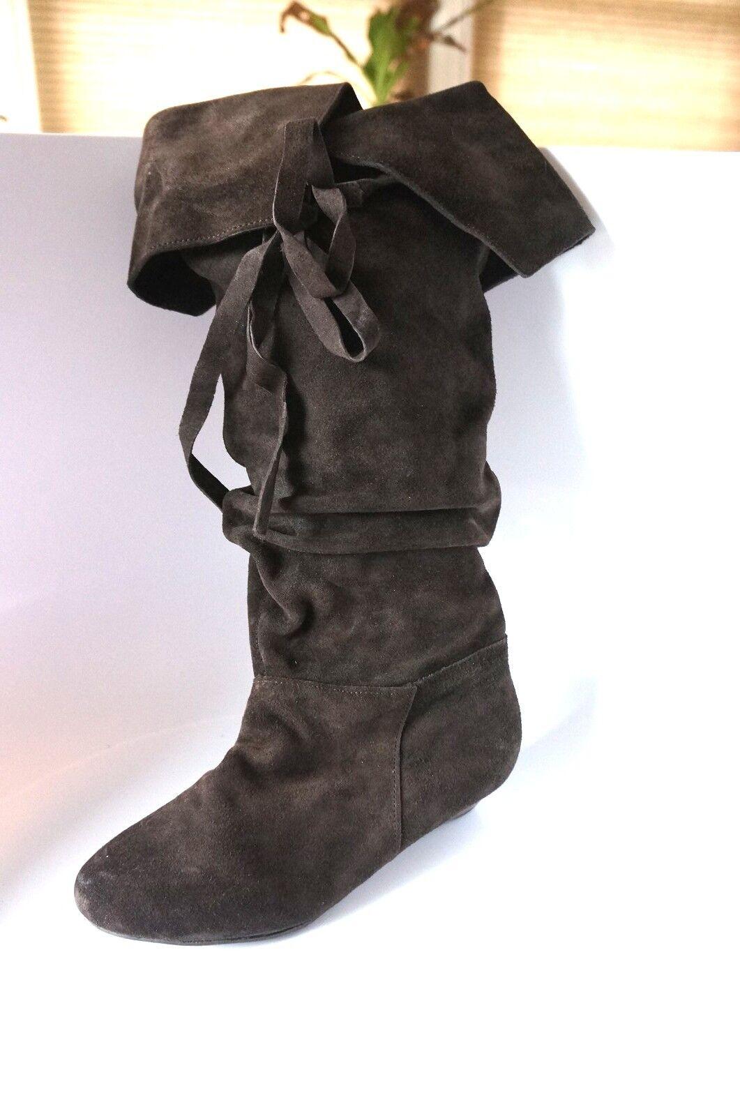 Nine West Wmns High Boots ABREL1 Brown Suede Sz 6 M