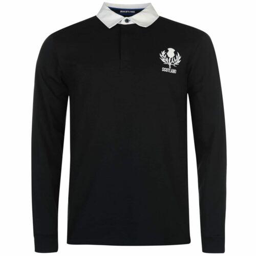 Scotland Rugby Long Sleeve Team Jersey Mens Blue Fan Top Shirt Sportswear