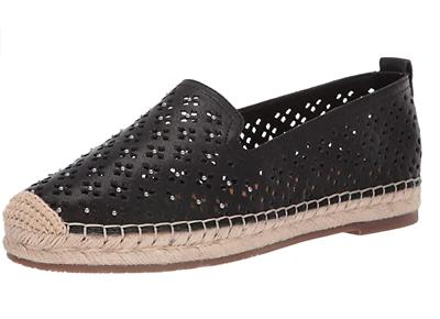 Patricia Nash Lola Shoes Flats Slip-On Black Tooled Leather $99 Various Sizes