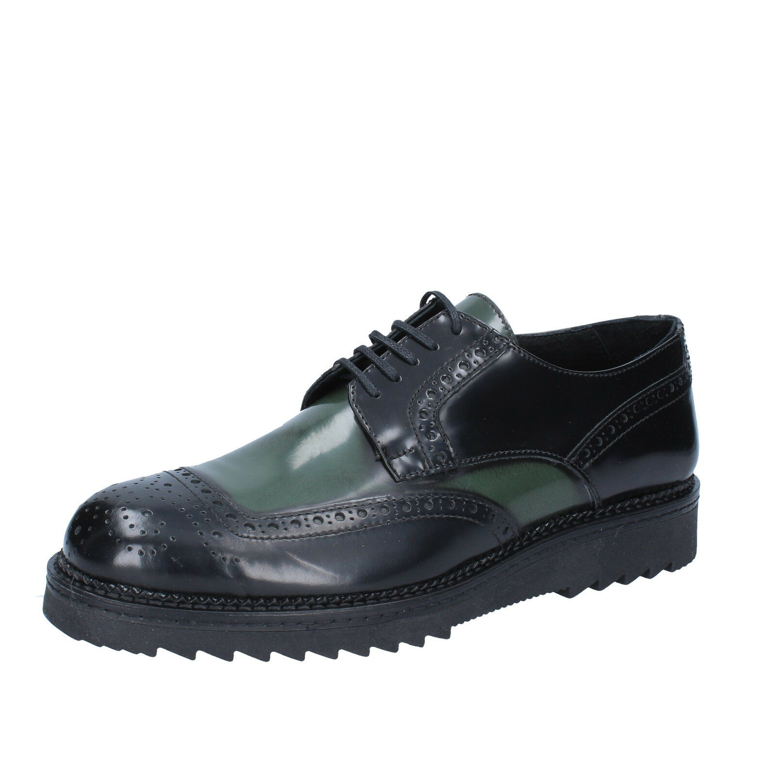 Men's schuhe SALVO BARONE 11 (EU 44) Leder elegant schwarz green shiny Leder 44) BZ185-F b1c1de
