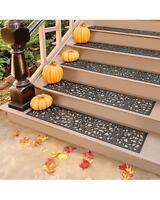 Outdoor Regal Scroll Black Rubber Stair Treads Door Mat 2 Sizes Sets Singles