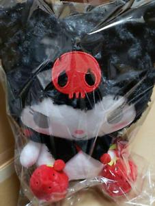 "SANRIO My Melody KUROMI 11.8/"" Plush Doll Red Strawberry Cross Bag Furyu Japan"
