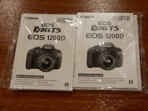 New - Canon EOS Rebel T5 Basic Instructions Manual User's Guide