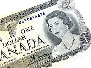 1973-Canada-One-Dollar-BCY-Prefix-Uncirculated-Elizabeth-Canadian-Banknote-L363