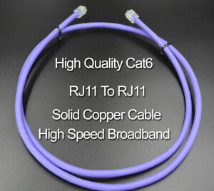 cat6 bt infinity 7m modem cable vdsl rj11 rj11high speed broadband gaming ebay. Black Bedroom Furniture Sets. Home Design Ideas