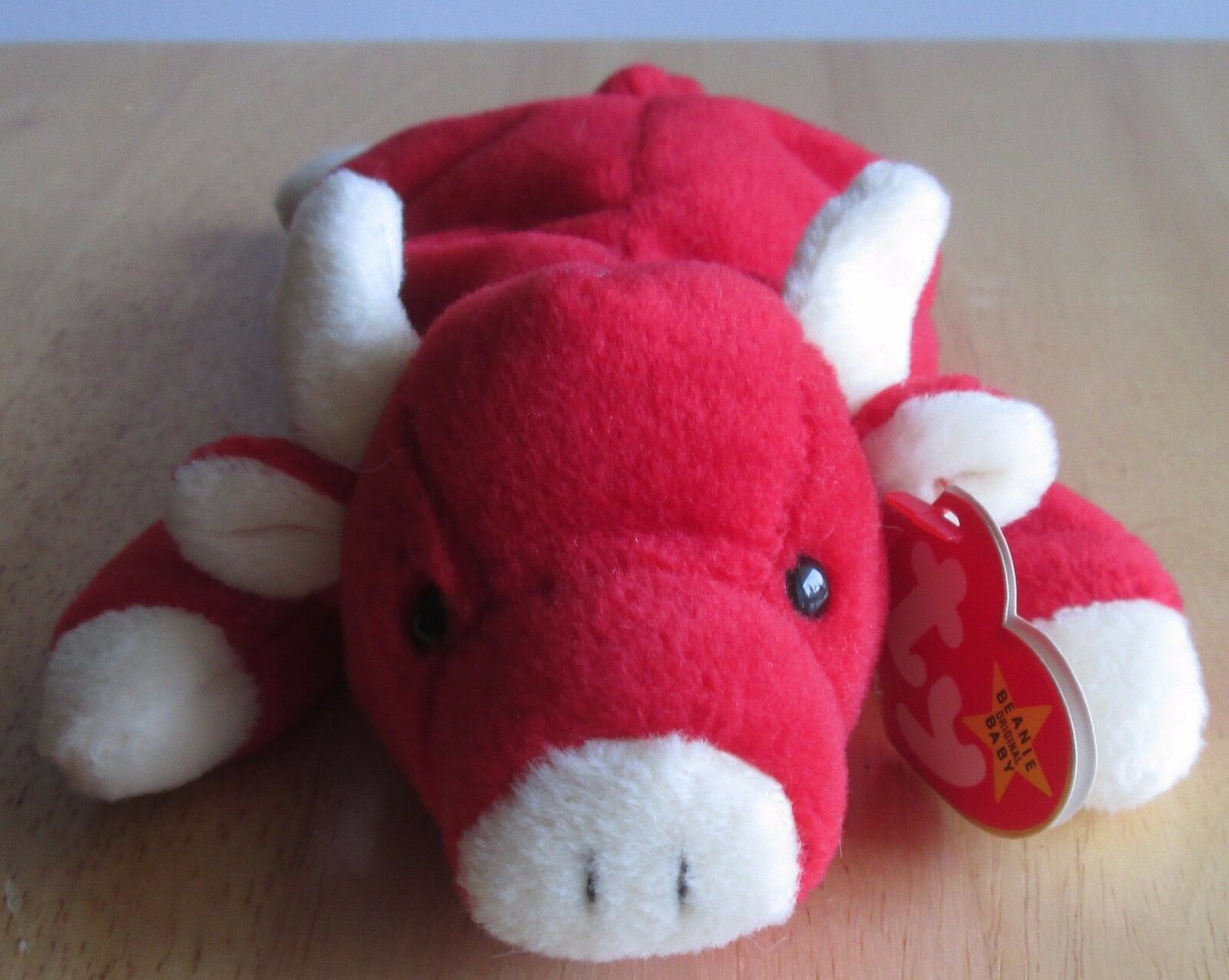 TY BEANIE BABIES SNORT THE RED BULL,no star on tag, Great condition