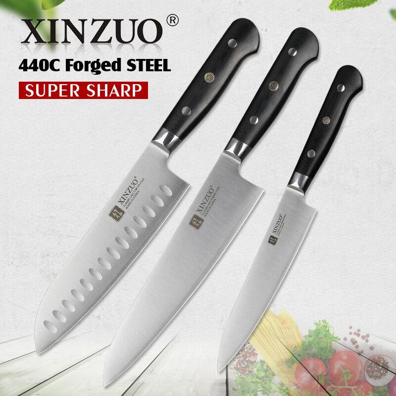Knife Set Kitchen Knives Steel Layers Chef Cleaver Santoku Utility Slice Chop XL