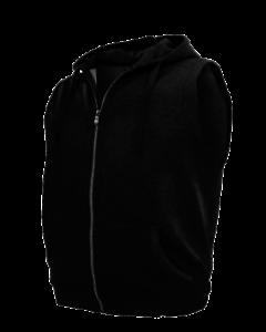 Kapuzensweatweste UOMO nero in oltre dimensioni di Honeymoon 3xl a 15xl