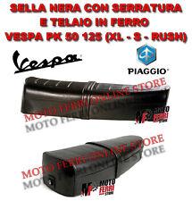SELLA LUNGA NERA VESPA 50 PK 50 125 XL RUSH TELAIO IN FERRO CON SERRATURA