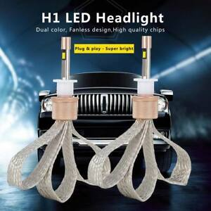 H1-80W-Auto-Car-LED-Headlight-KIT-High-Power-Replace-Halogen-Xenon-11000LM-Pair
