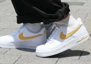 Dettagli su Nike Air Force 1' 07 3 AF1 MEN'S TG UK 13 EUR 48.5 AO2423 105 Biancooro mostra il titolo originale