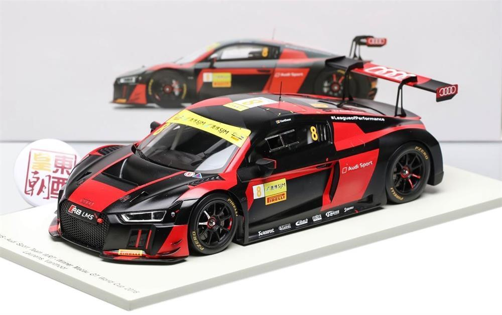 Audi R8 LMS n.8 Winner Macau GT World Cup 2016 Model Car in 1 18 Scale by Spark
