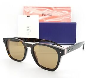 New-Fendi-sunglasses-FF-M0018-S-0086-52mm-Tortoise-Pink-Brown-AUTHENTIC-Women-039-s