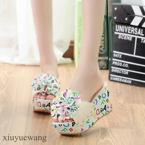 Summer-Womens-Shoes-Wedge-Heels-Floral-Open-Toe-High-Platform-Pu-Leather-Sandals