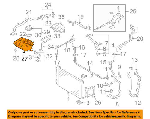 VW VOLKSWAGEN OEM Radiator-Coolant Overflow Expansion Reservoir Tank 3D0121407H