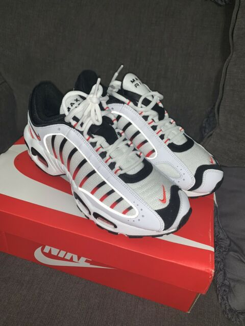 Nike Air Max Tailwind IV 4 Shoes White Black Habanero Red AQ2567-104 Men's 9