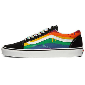 Details about VANS RAINBOW DRIP OLD SKOOL UNISEX WOMENS SIZE 12 MENS SIZE 10.5 VN0A5AO92CV